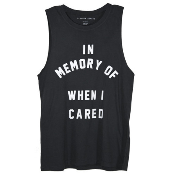 black top tank top quote on it graphic tee