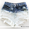 Vtg 80s high waisted cut off frayed denim shorts s - ebay (item 350444354364 end time  mar-10-11 01:29:05 pst)
