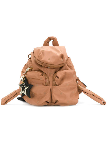 See by Chloe mini women backpack cotton brown bag