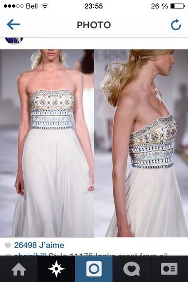 dress prom dress embroidered sherri hill sherri hill wedding dress