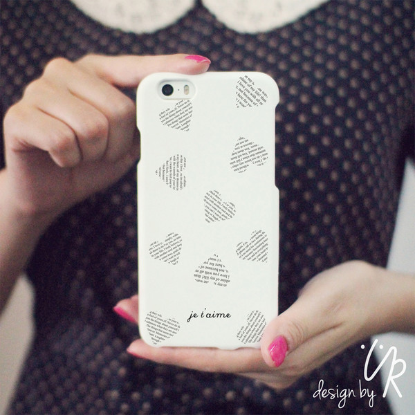 Amazon Com Cute Heart Pattern White Phone Case For Iphone
