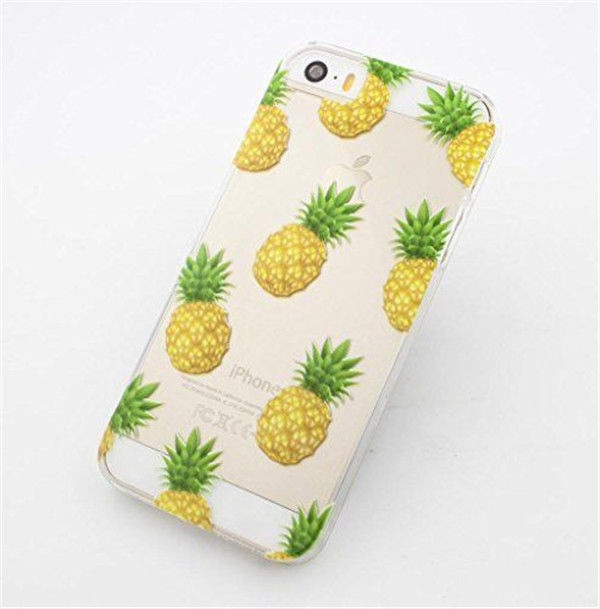 online retailer 24c5e 8a0f5 Stylish Fruit Pineapple Transparent Clear Case Cover for Iphone 5s 5c 6 & 6  plus