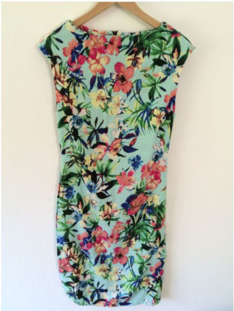 dress floral dress floral tropical dress zara dress tropical