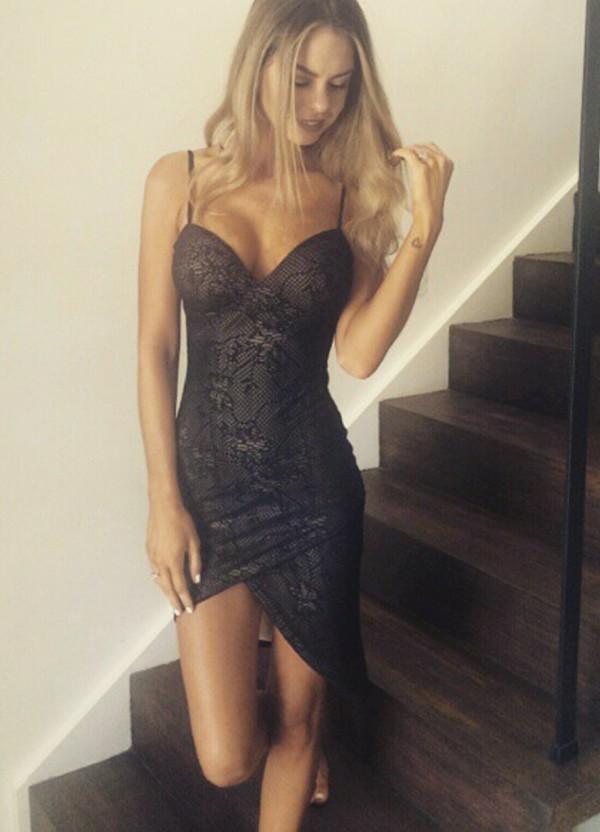 dress black dress sexy dress bodycon dress