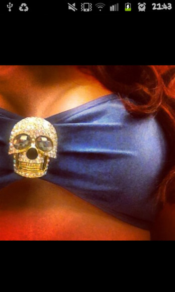 skulls skull swimwear blue diamond skull