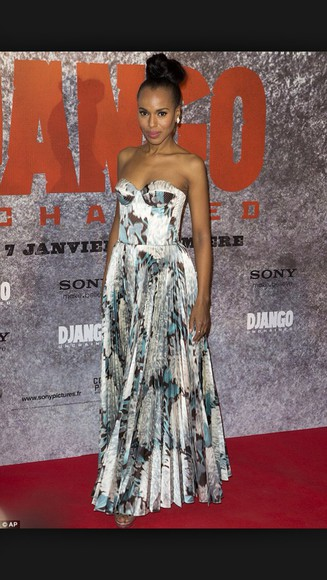 ball gown maxi dress print black and white scandal kerry washington floor length dress printed dress