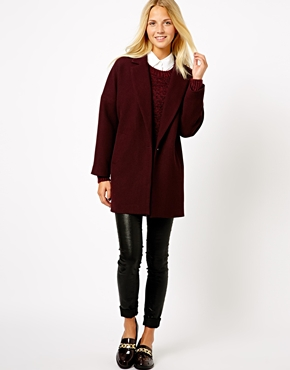New Look | New Look Textured Boyfriend Coat at ASOS