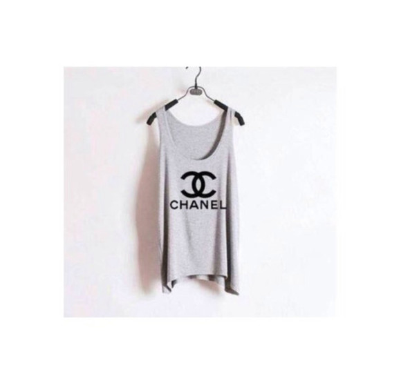 t-shirt casual chanel tshirt chanel fake chanel chanel logo chanel t-shirt cool girl style