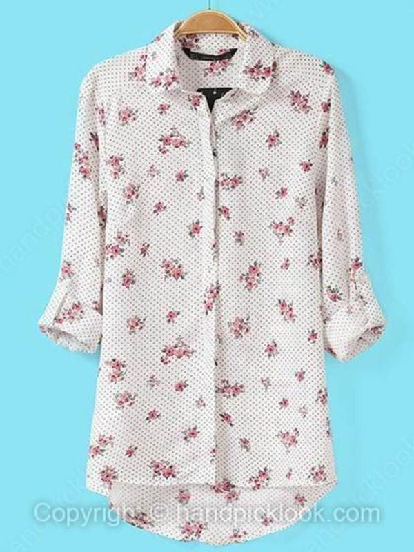 blouse flower print blouse top