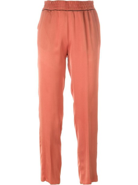Forte Forte cropped yellow orange pants