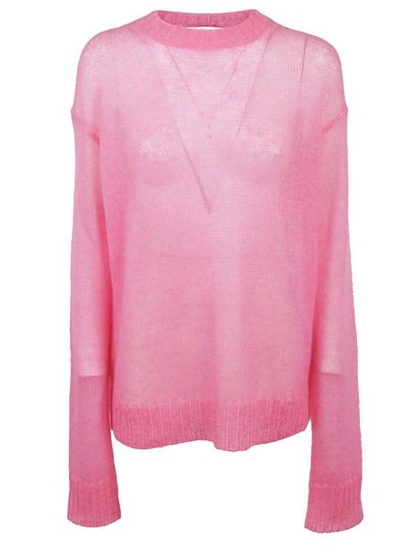 Celine sweater candy knit purple pink