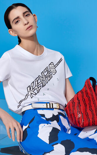 t-shirt kenzo slogan t-shirts white t-shirt