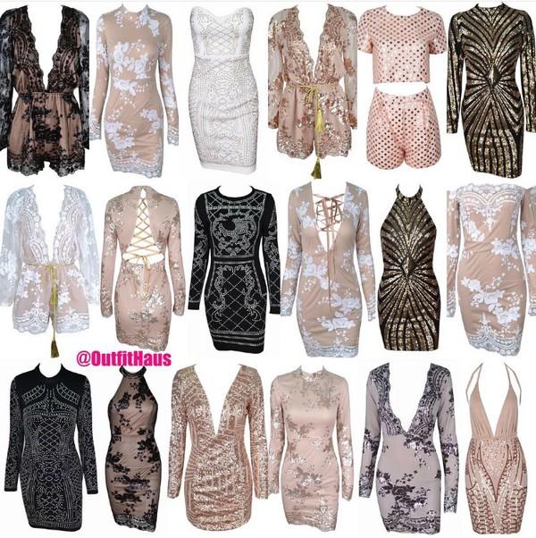 dress lace dress glitter