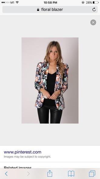 jacket black floral jacket