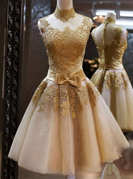 dress sleeveless homecoming dresses high necked homecoming dresses zippers homecoming dresses knee-length homecoming dresses bow homecoming dresses golden homecoming d