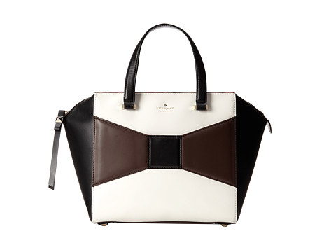 Kate Spade New York 2 Park Avenue Beau Bag Dark N Stormy/Cream/Black - Zappos Couture