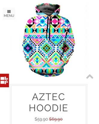 sweater aztec hoodie colorful pink green blue white black sublimation sale
