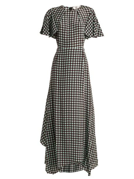 Diane Von Furstenberg dress silk dress print silk green