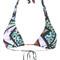 Lygia & nanny - printed bikini top - women - polyamide - gg, polyamide