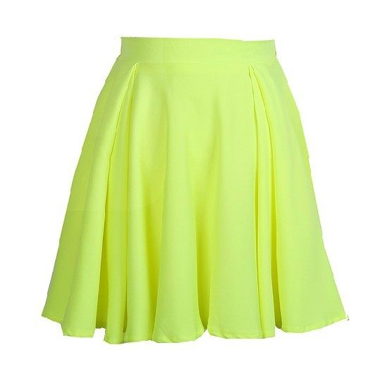 Candy color high waist skirt