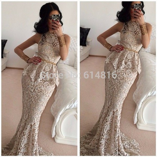 mermaid lace dress