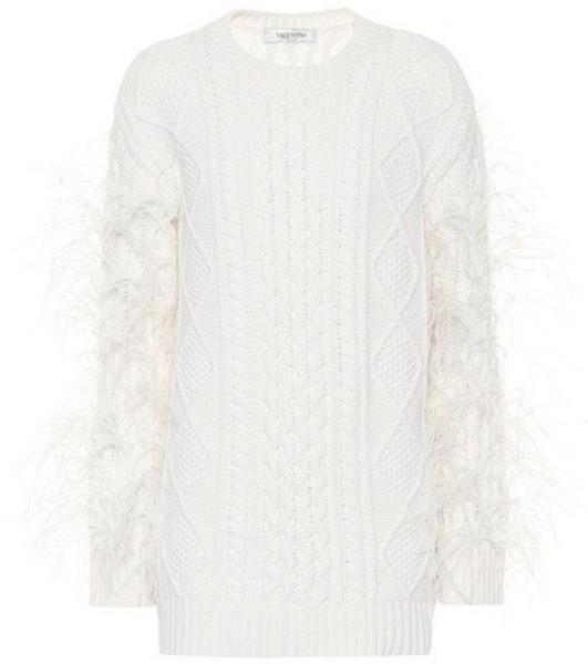 Valentino Virgin wool sweater in white