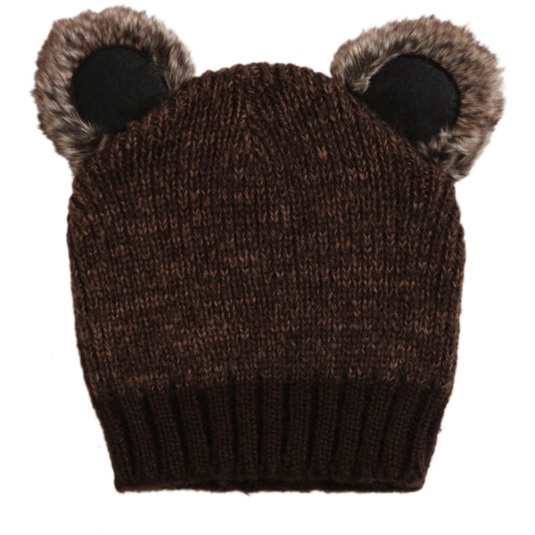 Koala Brown Knit Beanie | Hot Topic - Polyvore