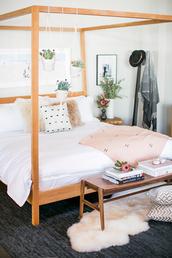 bedroom,hipster,bedding,plants