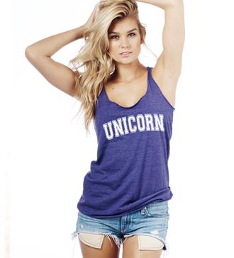 unicorn unicorn shirt slogan top racerback racerback tanktop