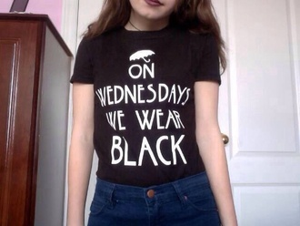 shirt black wednesday t-shirt ahs