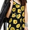 Sun flower print v neck short sleeve dress with tie back