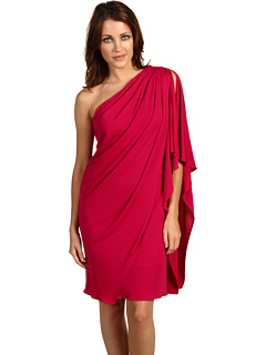 Mark & james by badgley mischka one shoulder dress (fuchsia)