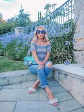 laminlouboutins,blogger,top,shoes,bag,sunglasses,sandals,transparent  bag,chanel bag,summer outfits