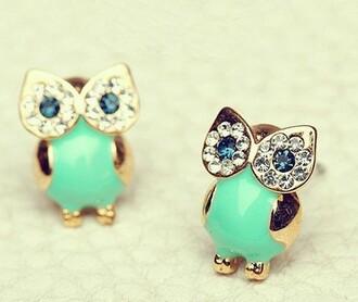 jewels earrings owl