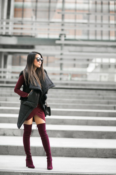 9fa67391dd wendy's lookbook, blogger, winter outfits, winter swag, thigh high ...
