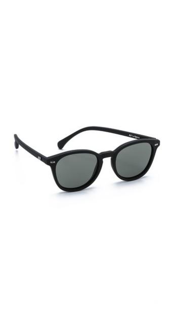 Le Specs Bandwagon Sunglasses - Black Rubber/Khaki Mono