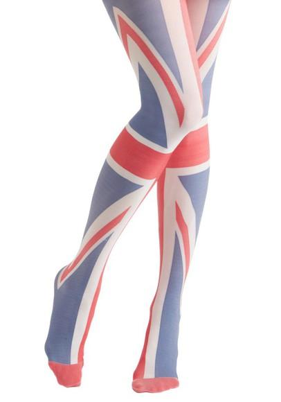 stockings british british flag