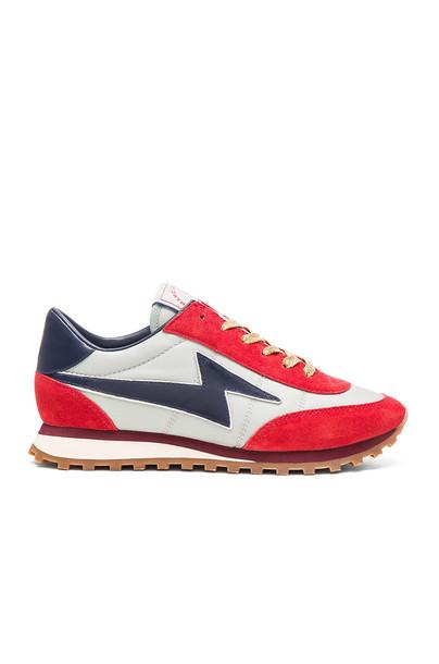 Marc Jacobs Astor Lightening Bolt Sneaker in red
