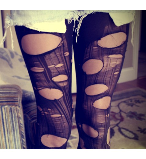 Grunge Torn Stockings - Leggings - Socks & Leggings - Accessories