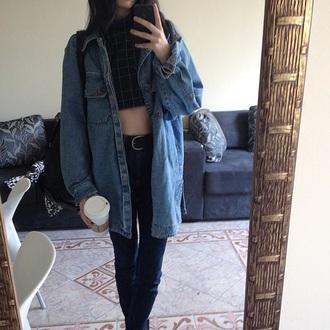 jacket jeans denim jacket blue tumblr grunge