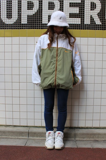 28d0fdf8d448 jacket green jacket green winter coat olive green nike air nike jacket  yellow japanese fashion windbreaker