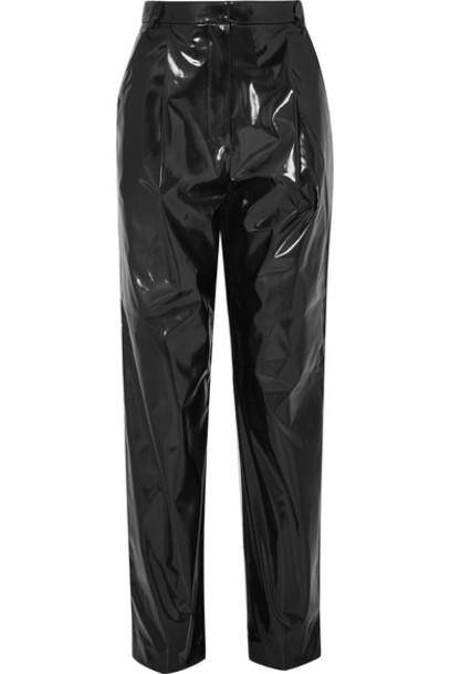 Tibi pants vinyl black