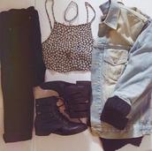 ankle boots,denim jacket,black jeans,fashion inspo,grunge,grunge wishlist,style,choker necklace,outfit,pants,shoes,jacket,shirt