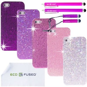 Amazon.com: iphone 4 case bundle including 5 glitter cases for apple iphone 4g/4s / 4 stylus pens / 2 screen protectors / 1 eco