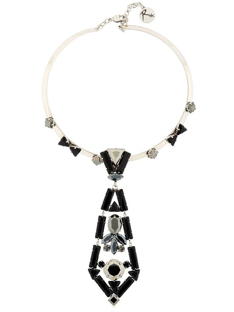 REMINISCENCE Hey Jude Tie-shaped Necklace in black / grey