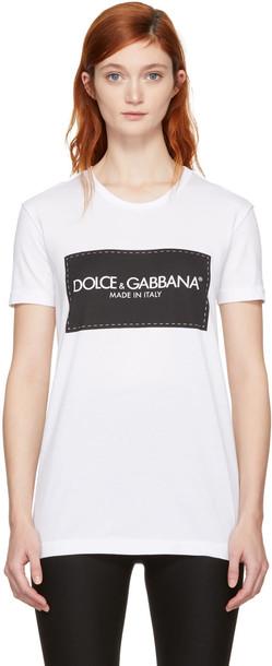 Dolce and Gabbana t-shirt shirt t-shirt white top