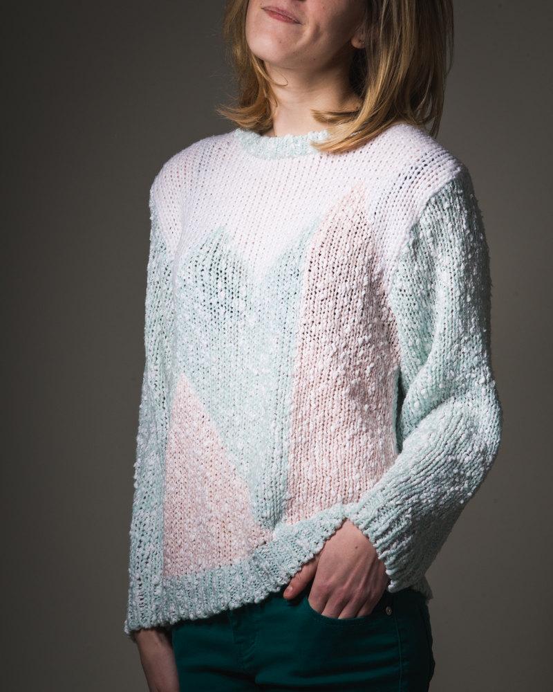 90's vintage pastel sweater