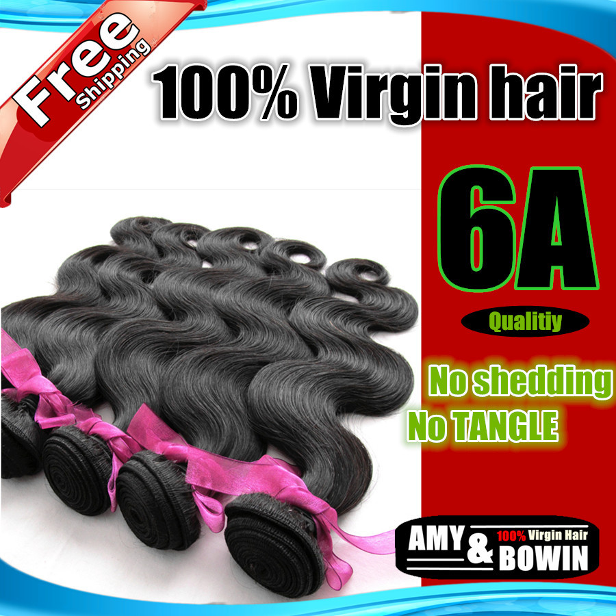Queen hair products Brazilian Virgin Hair Body Wave Grade 6A 3pcs lot 100% Human hair weave Unprocessed hair Black-in Hair Weaves from Beauty & Health on Aliexpress.com