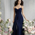 US $85.99 | sexy bridesmaid dressess deep blue a line