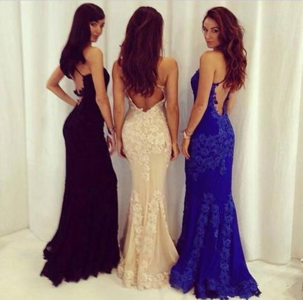 Cream prom dresses with black lace – Dress ideas
